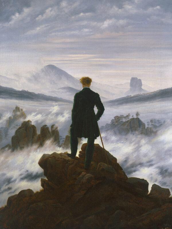 Hamburger Kunsthalle Caspar David Friedrich, Wanderer über dem Nebelmeer um 1817, Dauerleihgabe der Stiftung Hamburger Kunstsammlungen, Foto: Elke Walford