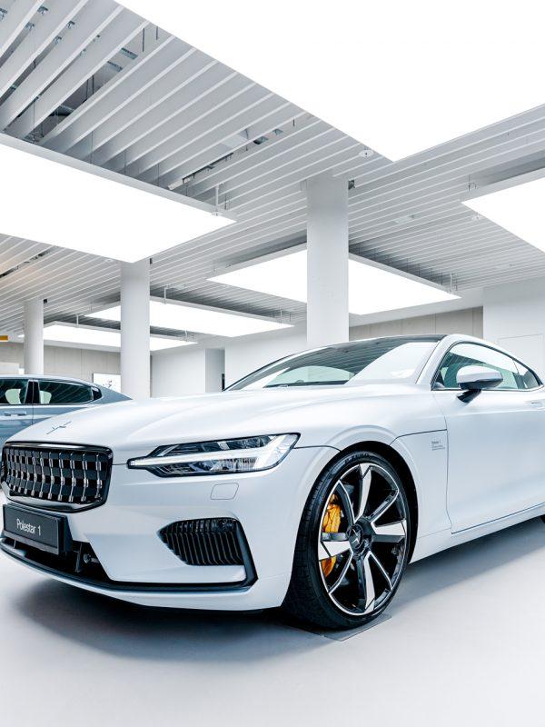 Polestar 2 100% elektrisch Elektroautos AMC Krüll GmbH Volvo Händler schwedische High Performance Elektromarke